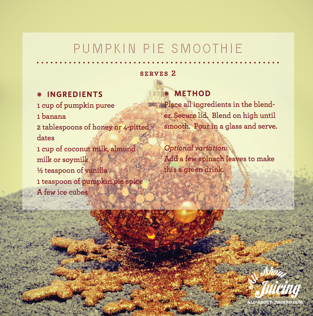 Delicious Pumpkin Pie Smoothie