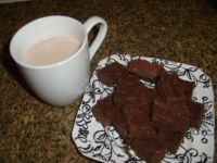 almond milk & raw fudge made with Vitamix