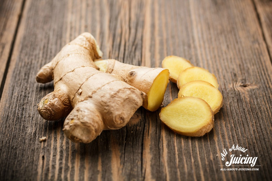 Fresh ginger for juices and smoothies